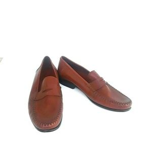 1afdf1aec9a Robert zur Brown Nappa Penny Loafer
